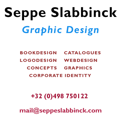 Seppe Slabbinck - graphic design - bookdesign - catalogues - logodesign - webdesign - concepts - graphics - corporate identity